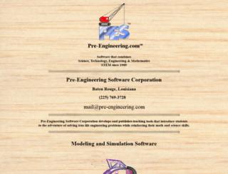 pre-engineering.com screenshot