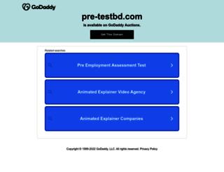 pre-testbd.com screenshot