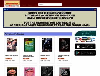 preciouspagesebookstore.com.ph screenshot
