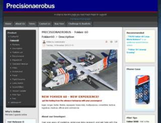 precisionaerobus.com screenshot