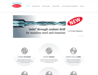 precisiondrills.co.uk screenshot