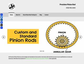 precisionpinionrod.com screenshot