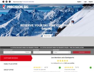 precisionski-rent.com screenshot