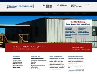 precisionstructuresinc.com screenshot
