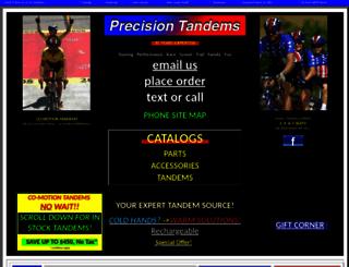 precisiontandems.com screenshot