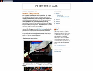 predatorlair.blogspot.com screenshot