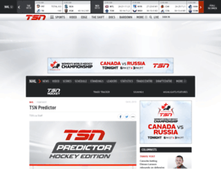 predictor.tsn.ca screenshot