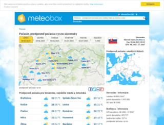 predpoved-pocasia.sk screenshot