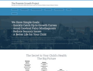 preemiegrowthproject.org screenshot