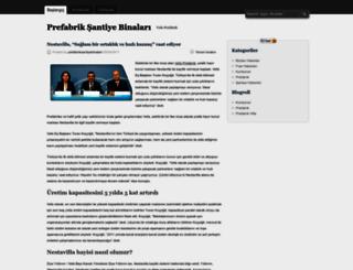 prefabriksantiyebinalari.wordpress.com screenshot