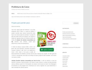 prefeituradecaico.com.br screenshot