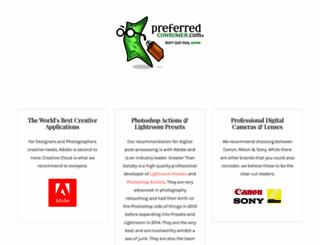 preferredconsumer.com screenshot