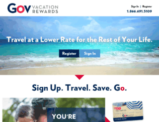 preferredtravel.govvacationrewards.com screenshot