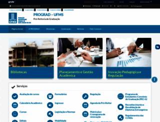 preg.ufms.br screenshot