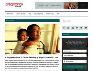 pregnancymagazine.com screenshot