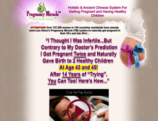 pregnancymiracle.com screenshot
