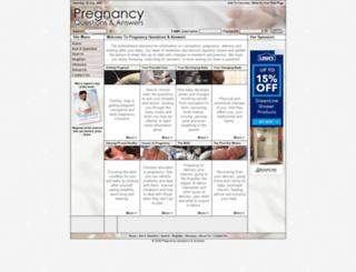 pregnancyquestionsandanswers.com screenshot