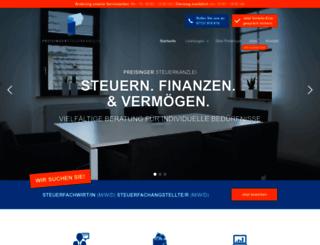 preisinger-steuerberatung.de screenshot