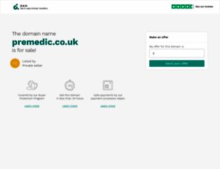 premedic.co.uk screenshot