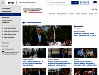 premier.gov.pl screenshot