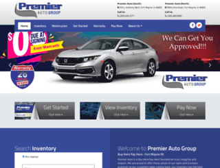premierautofortwayne.com screenshot