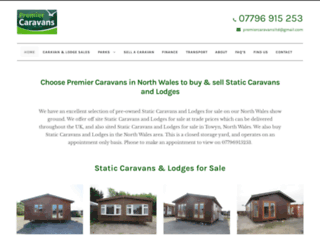 premiercaravans.co.uk screenshot