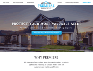 premiereroofs.com screenshot