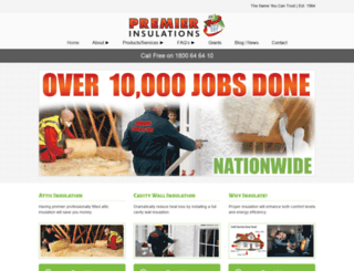 premierinsulations.com screenshot