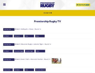 premiershiprugby.tv screenshot