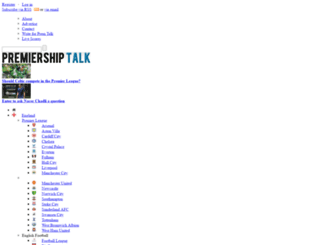 premiershiptalk.com screenshot