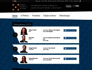 premiofolhauol.com.br screenshot
