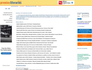 premiosliterarios.com screenshot
