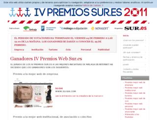 premiosweb.sur.es screenshot