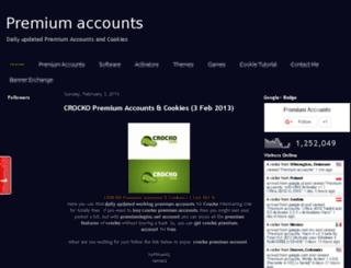 premium-logins.blogspot.com screenshot