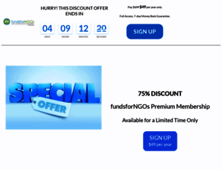 premium.fundsforngos.org screenshot