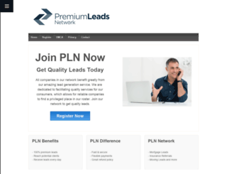 premiumleadsnetwork.com screenshot