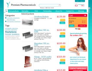 premiumpharmaceuticals.com screenshot