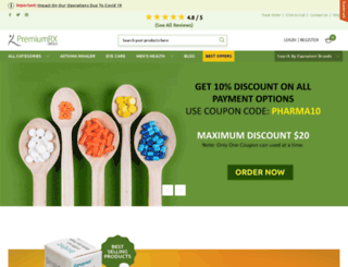 premiumrxdrugs.com screenshot