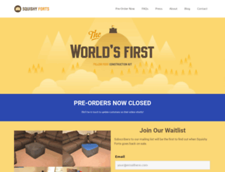 preorder.squishyforts.com screenshot