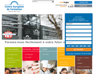 prep.centre-europeen-formation.fr screenshot