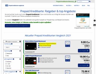 prepaid-kreditkarten-vergleich.de screenshot