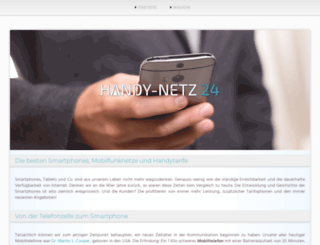 prepaid.handy-netz24.de screenshot