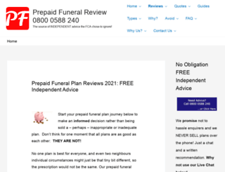 prepaidfuneralreview.co.uk screenshot