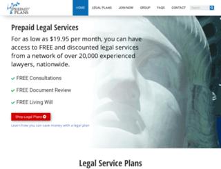 prepaidlegalservices.co screenshot