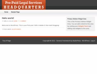 prepaidlegalserviceshq.com screenshot