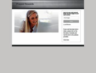 prepaidrewardscenter.com screenshot