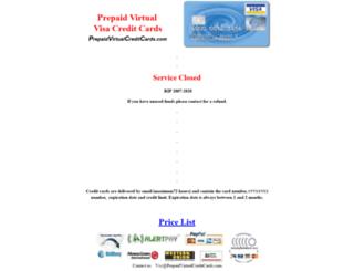 prepaidvirtualcreditcards.com screenshot