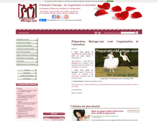 preparationmariage.com screenshot