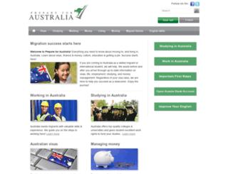 prepareforaustralia.com.au screenshot