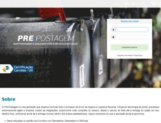 prepostagemweb.azurewebsites.net screenshot